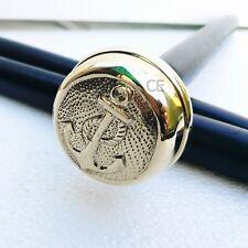 Vintage Brass Anchor Design Ball Handle Victorian Wooden Walking Stick Cane Gift