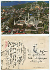 30482 - Istanbul - Blaue Moschee und Hagia Sofia - AK, gelaufen 30.7.1976