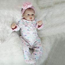 22'' Handmade Lifelike Full Body Newborn Silicone Vinyl Reborn Baby Doll Gift