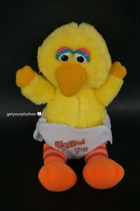 HASBRO SOFTIES 1983 SESAME STREET BABY BIG BIRD PLUSH