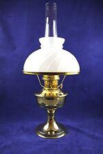 Aladdin Brass Model #23 Kerosene Oil Mantle Table Lamp W/ White Shade