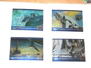 1994 Star Wars FINEST Galaxy Magazine promo INSERT CHROMIUM card set SWGM1-SWGM4
