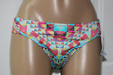 NEW Bar III Skylar Multi Ruched Sash Tab Hipster Bikini Swim Bottom XL XLarge