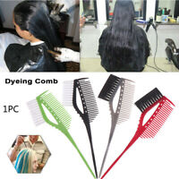 DIY Double-side Hair Dye Brush Tint Coloring Mixing Highlight Hair Comb