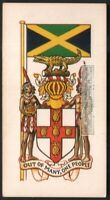 Flag And Standard - Banner For Jamacia c50 Y/O Trade Ad Card