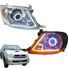 Projector Head lamp Upgraded with DRL & HID set Fit Toyota Hilux SR Vigo Pickup