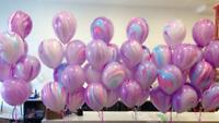 6 marble balloons, unicorn party balloons, purple super agate Balloons