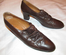 50's vintage Margaret Gerrold Hudson'S supple leather brown classic shoes 9 N *