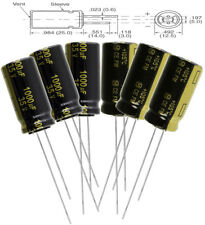 6pc Panasonic Fm 1000uf 35v Low Esr Radial Capacitors 7000 Hrs 105c Eeu Fm1v10