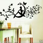 Butterfly Fairy Girl Vine Flowers Removable Wall Sticker Kids Living Room Lounge