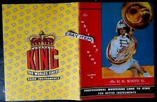 1949 original CATALOG H. N. White Company KING BAND INSTRUMENTS Cleveland OHIO