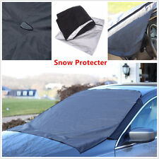 Front Windshield Window Snow Ice Frost & Sun Shade Protector Tarp Flap Cover Car