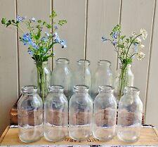 Bulk 10 small shabby chic vintage milk bottle vases weddings party
