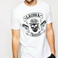 La Coka Nostra T Shirt Funny Birthday Cotton Tee VTG Gift Men