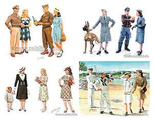"Set of 4 Kits "" Women of WWII ""1/35 Master Box 3514 3556 3557 35148"