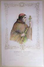 1845ca GIOVANNI VISCONTI litografia Bacchini Vigotti Arcivescovo Milano Parma