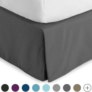 Premium Microfiber Bed Skirt 15 Inch Tailored Drop Dust Ruffle