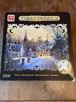 1000 Piece Jigsaw Deco Puzzle 01963 Jumbo - Late Stroll, Winter Scene Complete