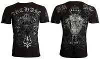 Archaic AFFLICTION Men T-Shirt SINESTRO Cross Tattoo Biker Gym MMA UFC S-4XL $40