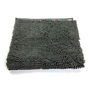 ITSOFT Non Slip Shaggy Chenille Bath Mat for Bathroom Rug Water Absorbent Carpet