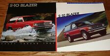 1983 1984 1985 1986 1987 Chevrolet S-10 Blazer Brochure Lot of 5 Chevy