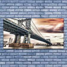 Print on Glass Wall art 140x70 Picture Image Bridge Architecture