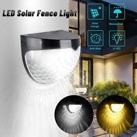 LED Solar Power Garden Gutter Lamp Outdoor Yard Path Patio Fence Light Landscape