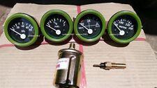 24v Electrical Gauges 52mm  - Oil Pressure  + Temp + Fuel + Volt with Senders