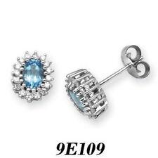 Orecchini con diamanti g in oro bianco 9 carati
