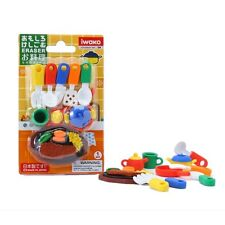IWAKO Puzzle Eraser / Kitchen Cooking Blister Pack (Japan Import)