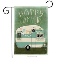 New listing Briarwood Lane Sleeved Garden Flag 12.5x18 Happy Campers Camping Rv Trailer New