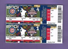 Pair (2) 2001 Chicago Cubs Phantom Tickets Full Wrigley Field Nlcs