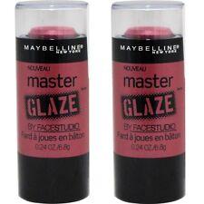 2 x Maybelline By Face Studio Master Glaze Blush Stick 50 Make A Mauve 6.8g NEW