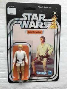 KENNER 1977 VINTAGE LUKE SKYWALKER ON STAR WARS 12 BACK CARD A NEW HOPE TATOOINE