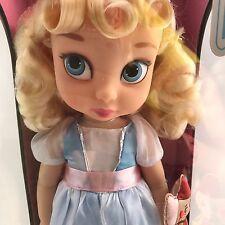 "Disney Store Animators Collection Cinderella Toddler Doll 16"" Jaq New SEALED Box"