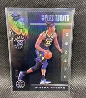 Myles Turner 2019-20 Illusions Black Numbered 37/49 Rare Panini NBA #27 Pacers