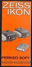 Bedienungsanleitung ZEISS IKON PERKEO SOFT Projektor User Manual Anleitung X2769
