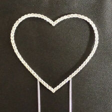 Small Renaissance Crystal Heart Cake Topper