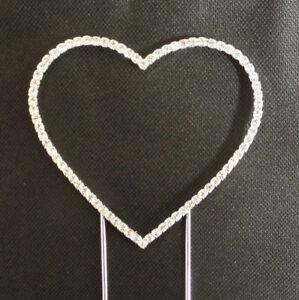 Small Renaissance Crystal Heart Cake Topper