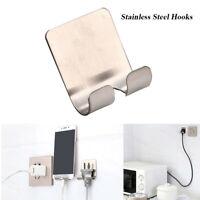 Sticking Razor Shower Plug Holder Wall Hanger Adhesive Hook Stainless Steel