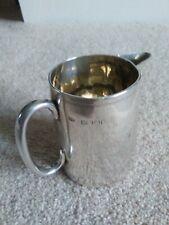Solid silver Victorian cream jug 1887