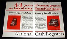 1926 OLD MAGAZINE PRINT AD, NATIONAL CASH REGISTER, 44 YEARS CONSTANT PROGRESS!