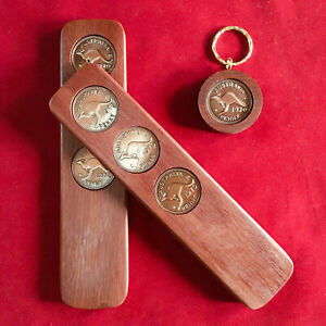 1970 Birthday Anniversary Gift Present Two-Up Game & Penny Keyring Gift Pack