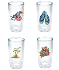 Tervis Beach Life 16 Oz Tumblers Set Of 4 Hot Cold Insulated New Usa Free Ship