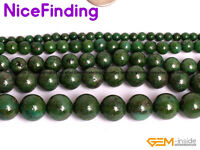 Green Pyrite Round Beads For Jewelry Making Strand 15''DIY 4mm 6mm 8mm 10mm 12mm