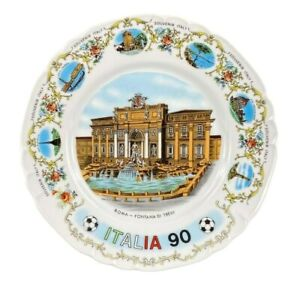 Richard Ginori Italia 90 World Cup 10 Inch Souvenir Plate Roma Made in Italy