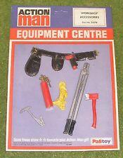 Original vintage action man cardées équipement centre atelier accessoires pompier