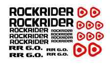 KIT 23 ADESIVI PRESPAZIATI BICI  ROCKRIDER STICKERS   ROCKRIDER