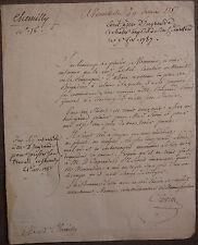 Colmar. Place de Brigadier de la Compagnie d.Alsace. 1787.