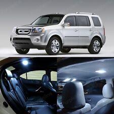 19 x Ultra White LED Lights Interior Package Kit For Honda PILOT 2009 & UP